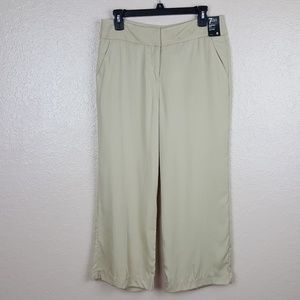New York & Company Womens Culotte Pants Size 8 Bei